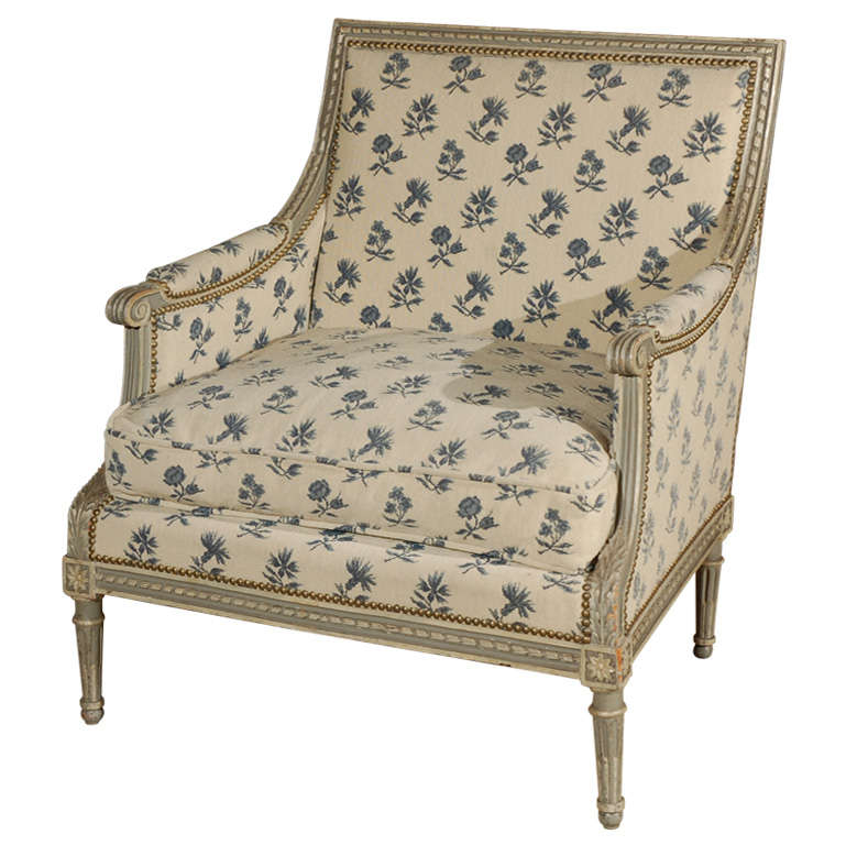 19th Century French Marquis Chair For Sale At 1stdibs