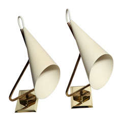 Pair of Giuseppe Ostuni Sconces Made in Italy, 1954