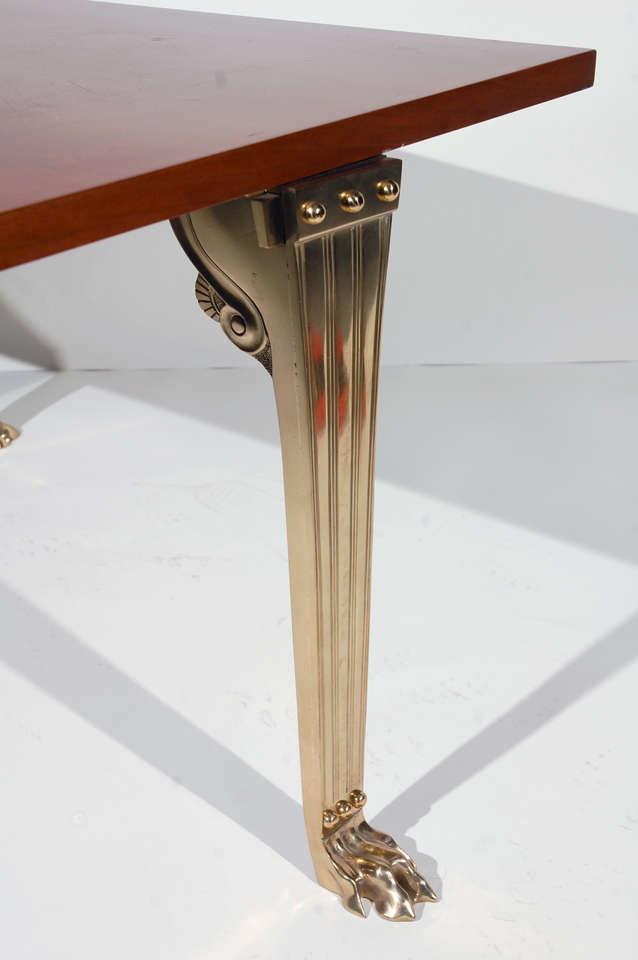 Bronze Robsjohn-Gibbings by Saridis Table For Sale