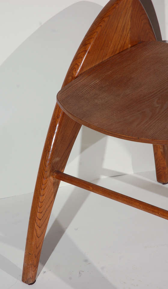 Stylized Modernist Side Chair  In Good Condition For Sale In Los Angeles, CA