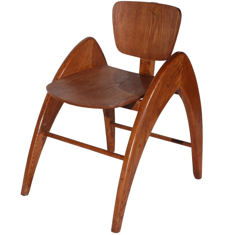 Stylized Modernist Side Chair  For Sale