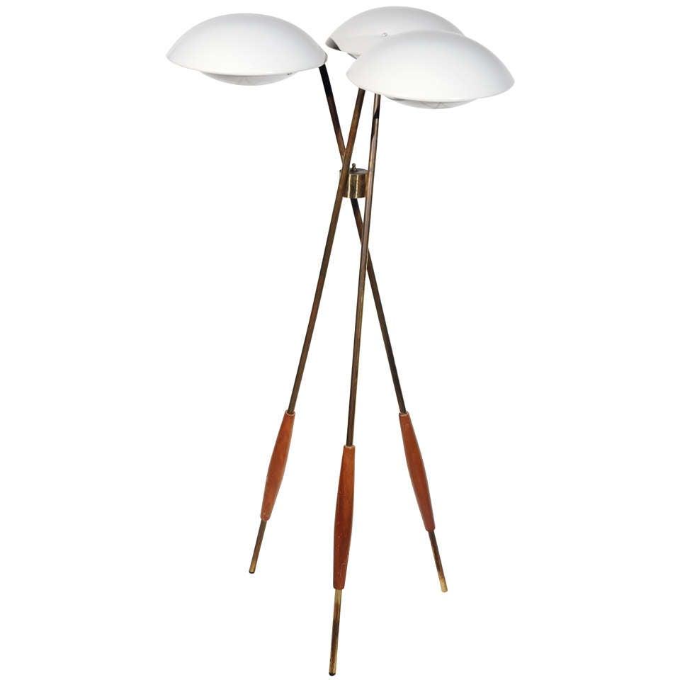 Gerald Thurston For Lightolier Floor Lamp At 1stdibs