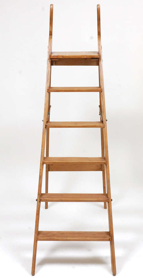 Antique English Library Ladder At 1stdibs