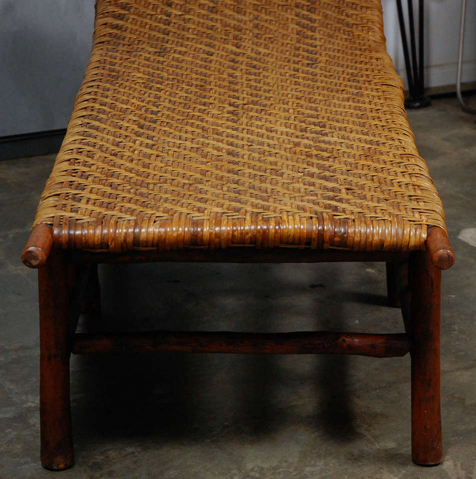 Vintage american old hickory chaise longues at 1stdibs for Antique chaise longues
