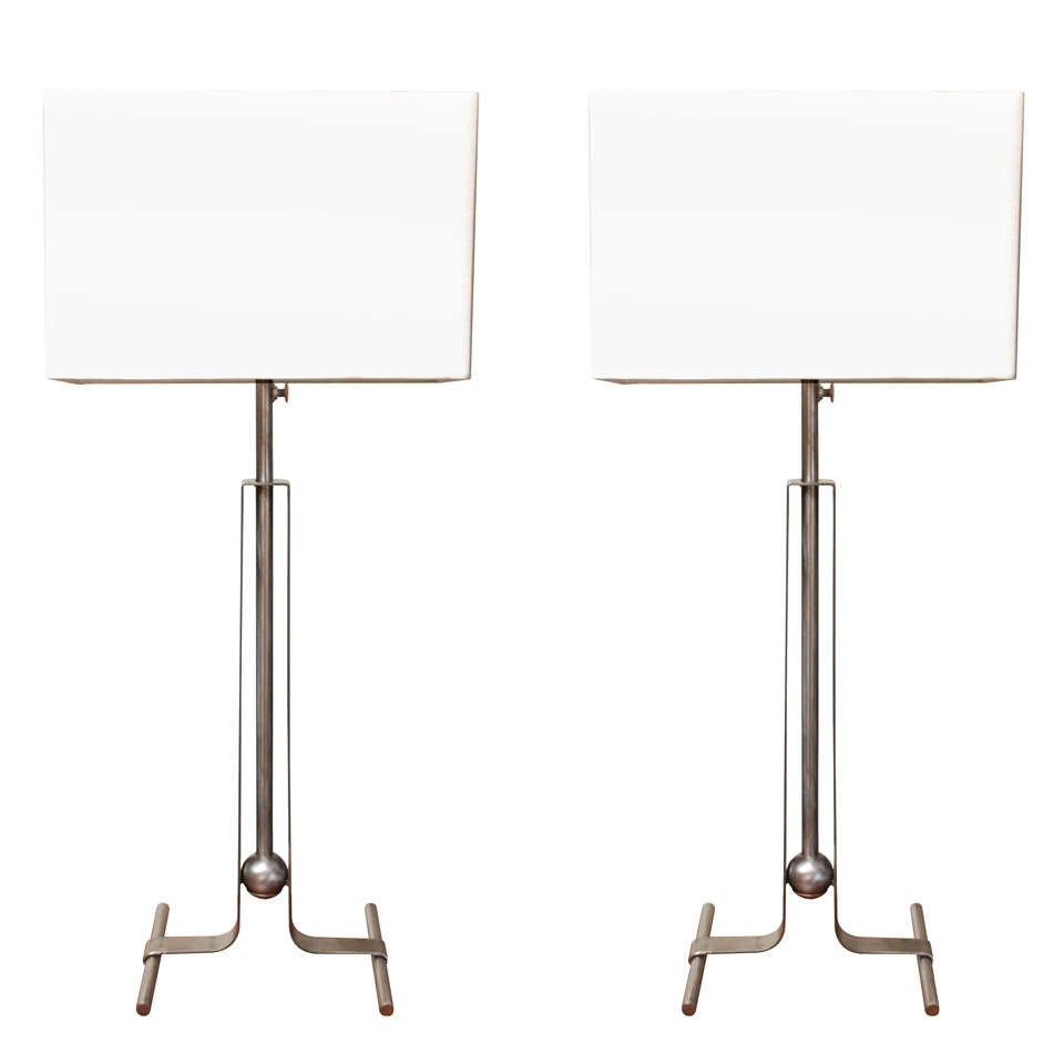 Vintage Pair of Telescoping Table Lamps