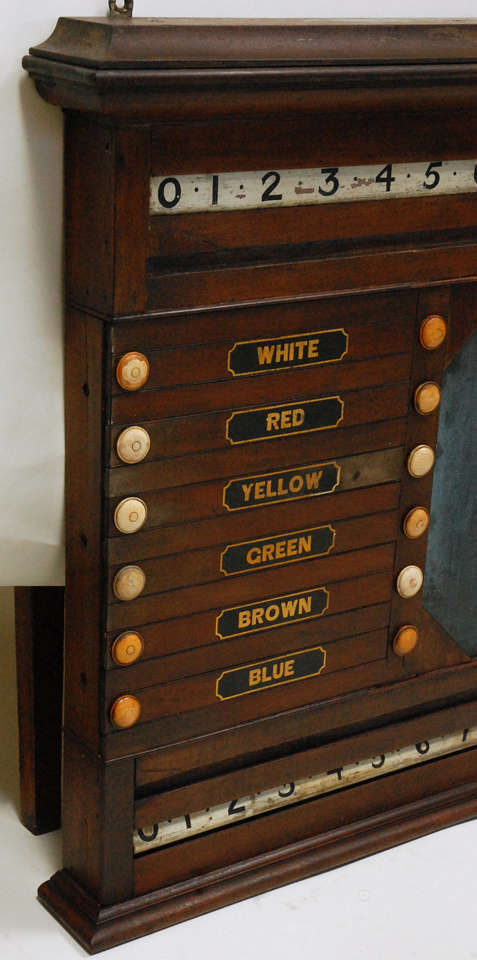 Late Victorian Antique Billards, Snooker, Pool Score Board For Sale