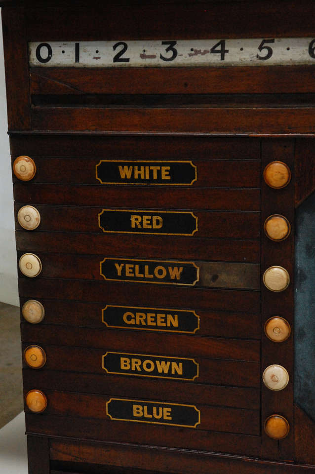 19th Century Antique Billards, Snooker, Pool Score Board For Sale