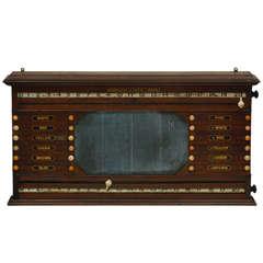 Antique Billards, Snooker, Pool Score Board