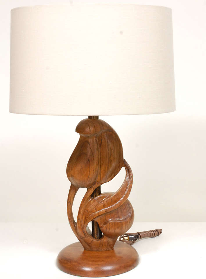 Organic Modern Pair Heifetz Table Lamps For Sale