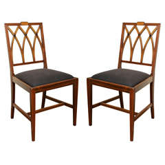 Pair of Berkey & Gay Mahogany Side Chairs