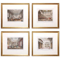 Set of (4) Hand Colored Prints
