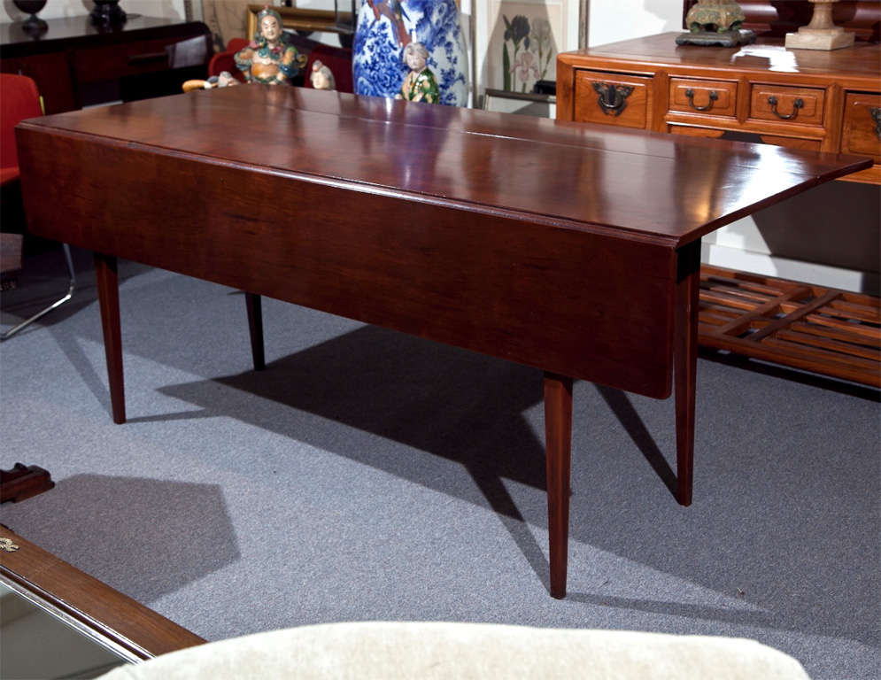 Cherry Wood Dining Table With Drop Leaf At 1stdibs