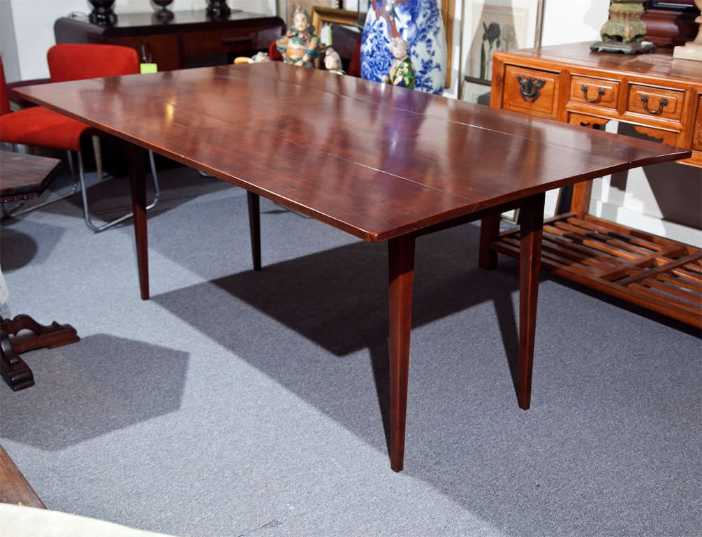 cherry wood dining table with drop leaf at 1stdibs. Black Bedroom Furniture Sets. Home Design Ideas