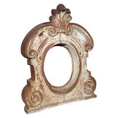Large Cast Iron Oval Window