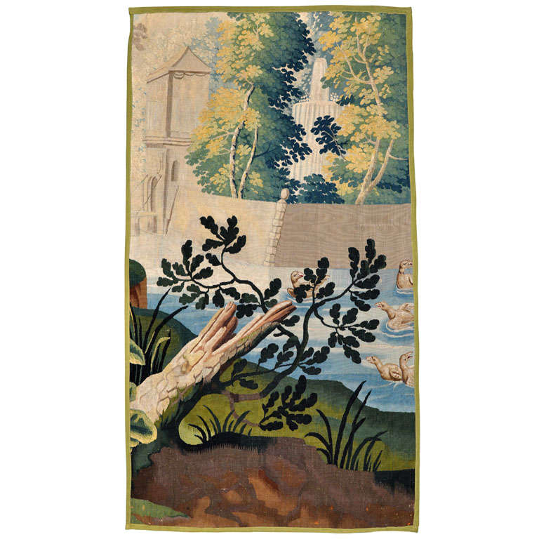 18th century floral and landscape tapestry at 1stdibs for Garden design 18th century
