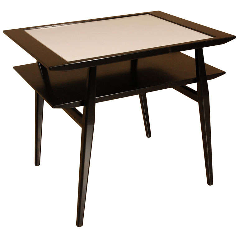 Noir et blanc side table at 1stdibs for Table extensible noir et blanc