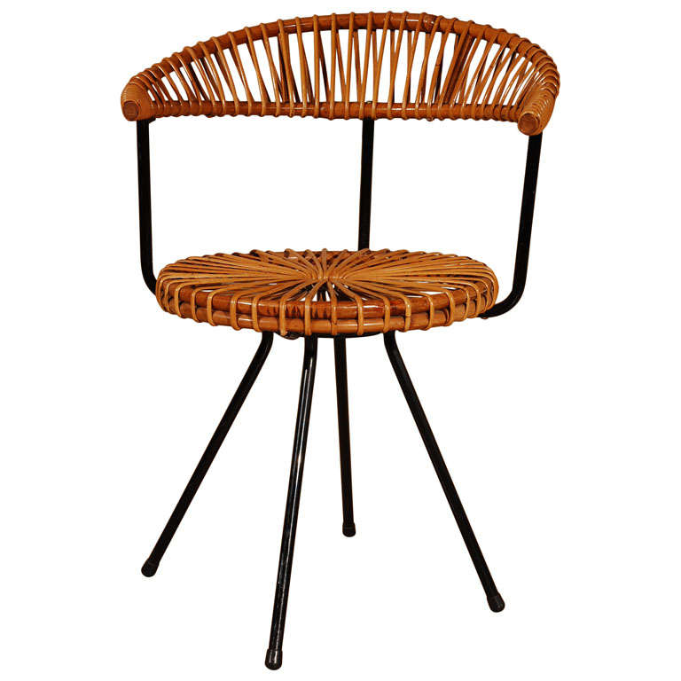 Dirk van sliedregt cane chair at 1stdibs