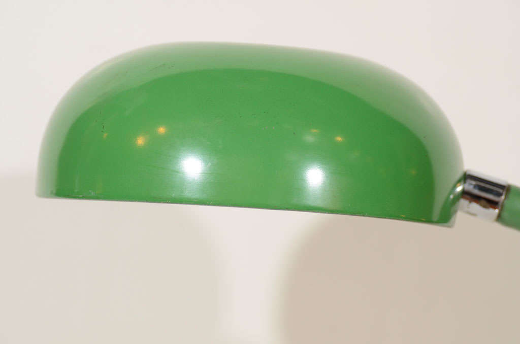 1970s Kelly Green Gooseneck Desk Lamp For Sale 5