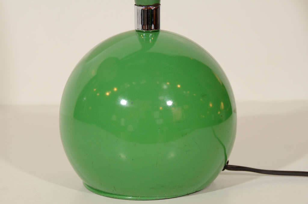 American 1970s Kelly Green Gooseneck Desk Lamp For Sale