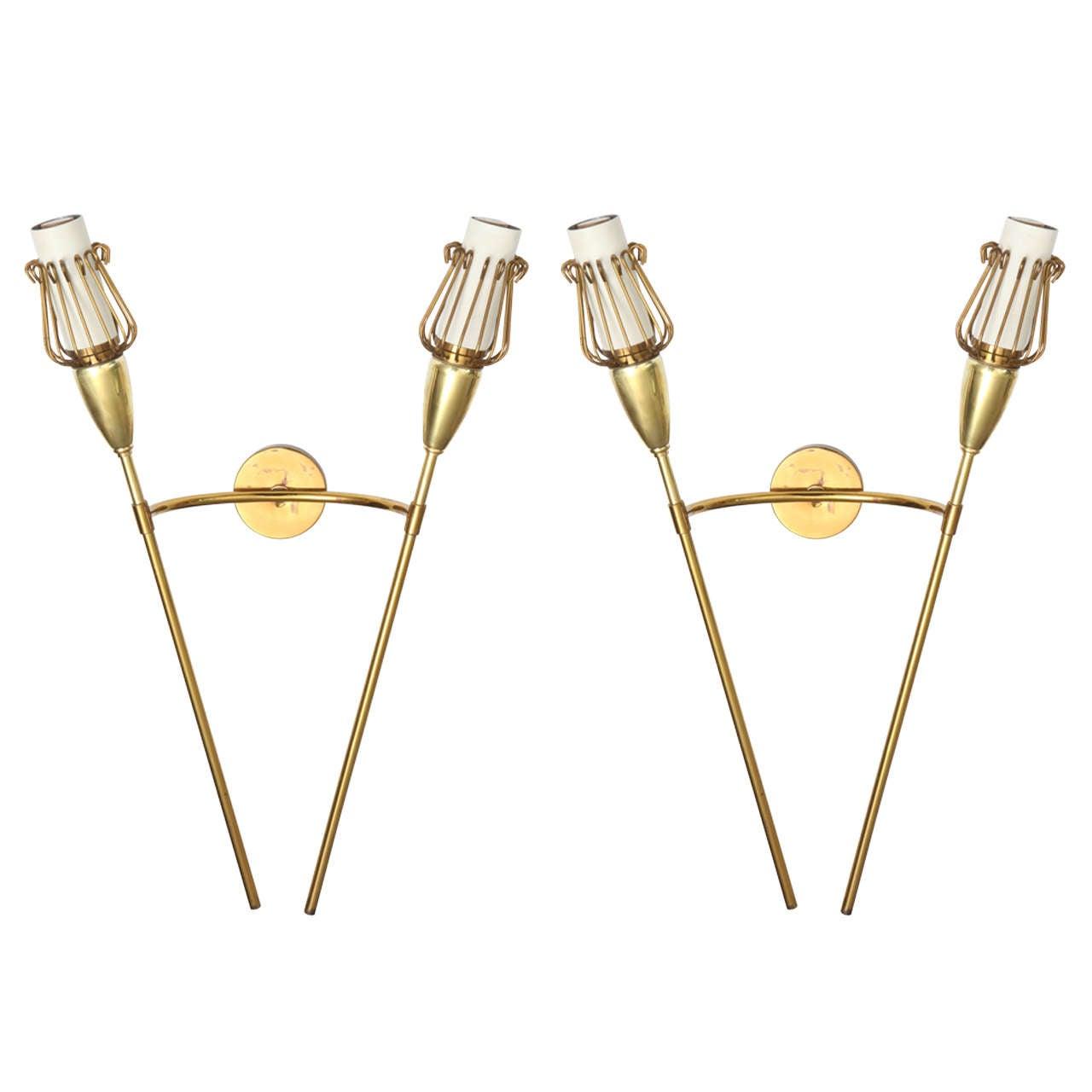 Double Sconces by Lunel for Royal Lumière