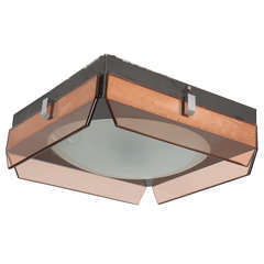 Style of Fontana Arte Ceiling Lamp by Veca