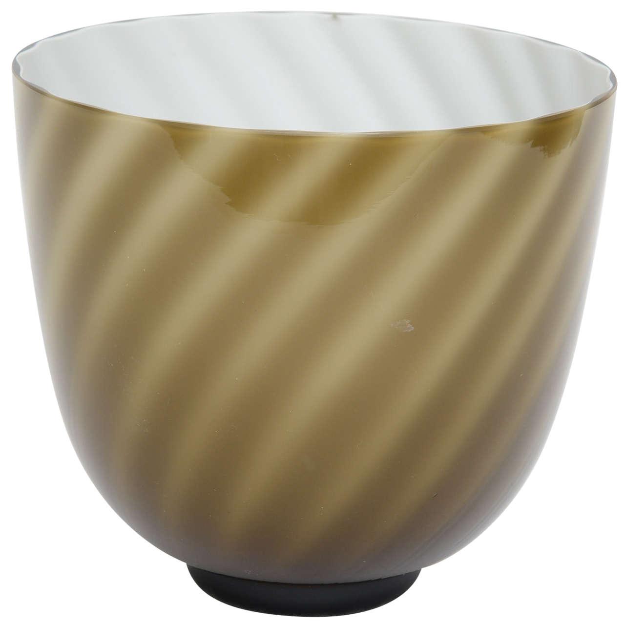 Tommaso Barbi Murano Swirl Vase