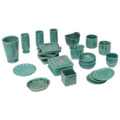 "Collection of Gustavsberg ""Argenta"" Ceramics, Wilhelm Kage Designed"