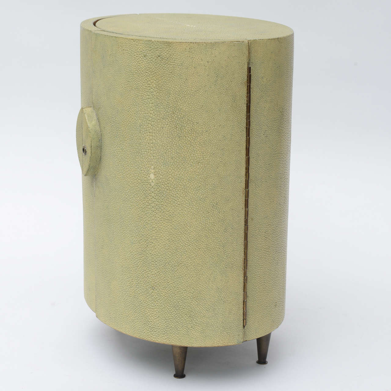 Late 20th Century R & Y Augousti Shagreen Covered Jewelry Cabinet For Sale