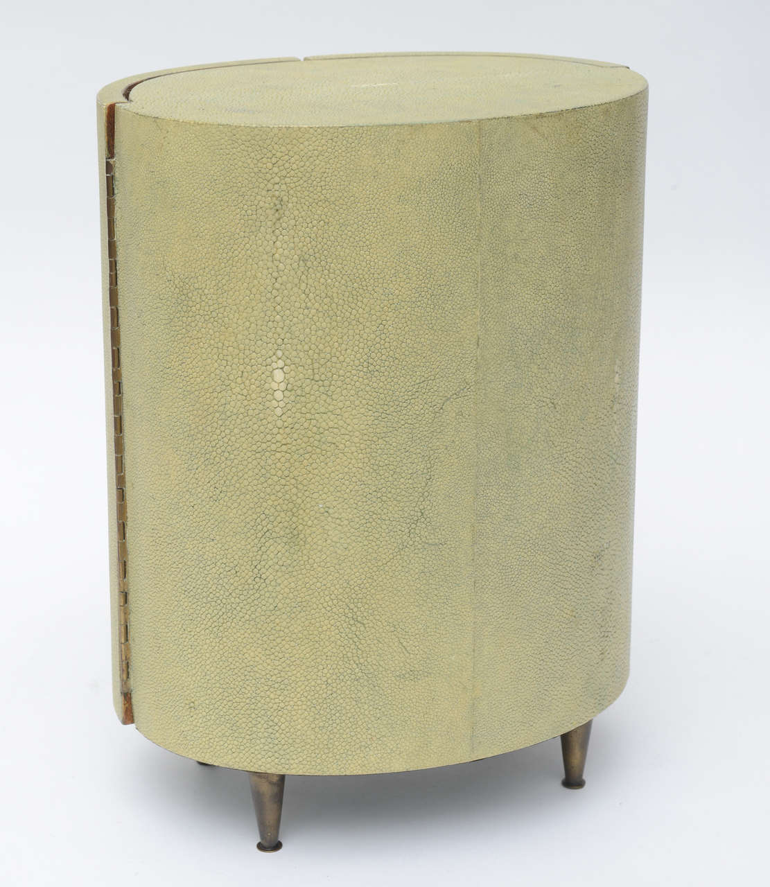 R & Y Augousti Shagreen Covered Jewelry Cabinet For Sale 1