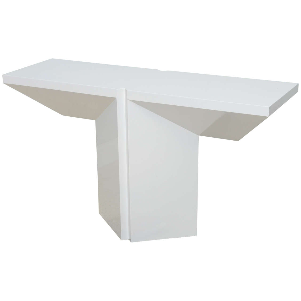 Italian Modern White Lacquered Console Table At 1stdibs