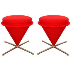 "Pair of ""K3 Cone (Foot) Stools,"" by Verner Panton, Model from 1958-1959"