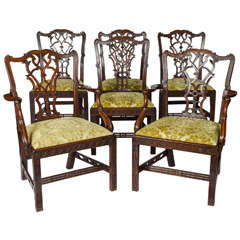 Set of Six 19th Century Centennial Dining Chairs