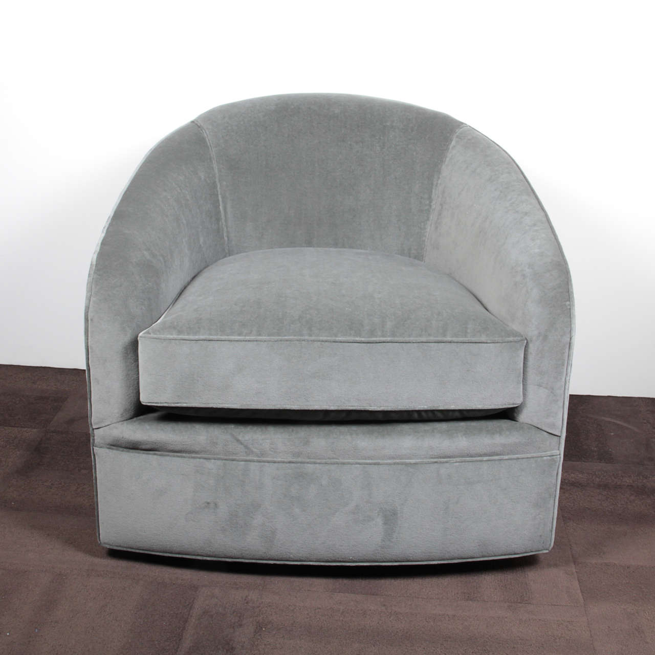 Mid Century Luxe Swivel Chair And Matching Ottoman By Milo