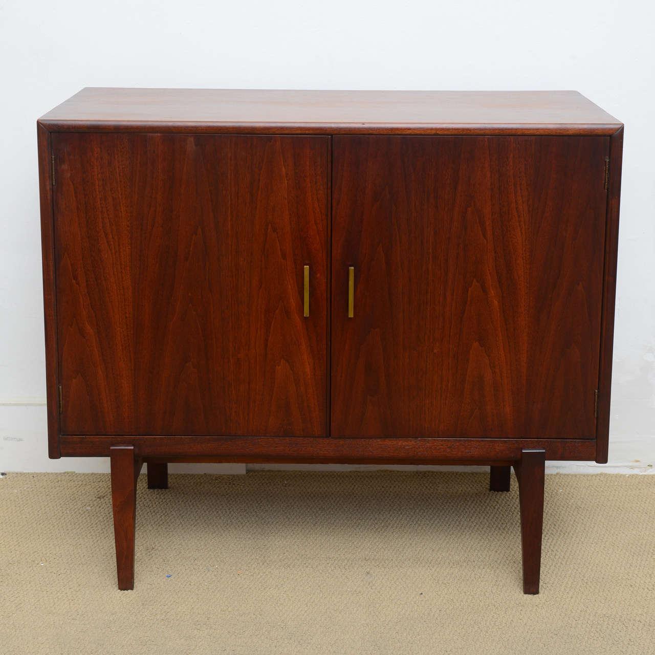 Small Mid Century Modern Walnut Danish Cabinet Or Dresser
