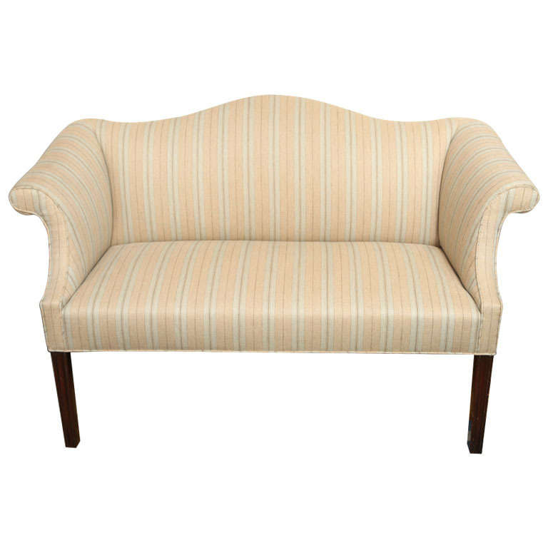 A Small Scale Chinese Chippendale Style Camelback Sofa At 1stdibs