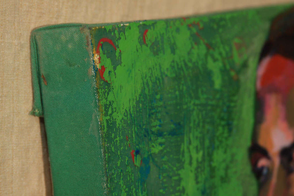 Nude Oil Painting in Green For Sale 2