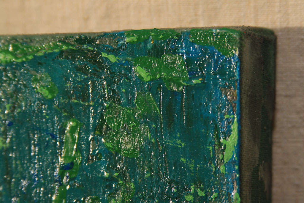 Nude Oil Painting in Green For Sale 3