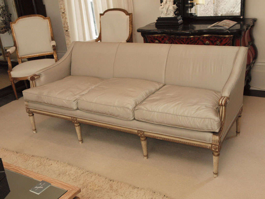 louis xvi style italian painted sofa at 1stdibs
