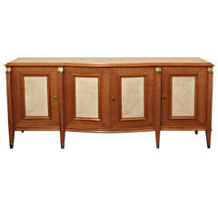 Stylish French 1940s Sycamore Sideboard