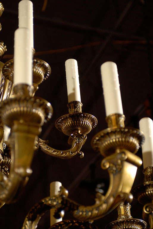 Ormolu Antique Chandelier. Regence style chandelier For Sale