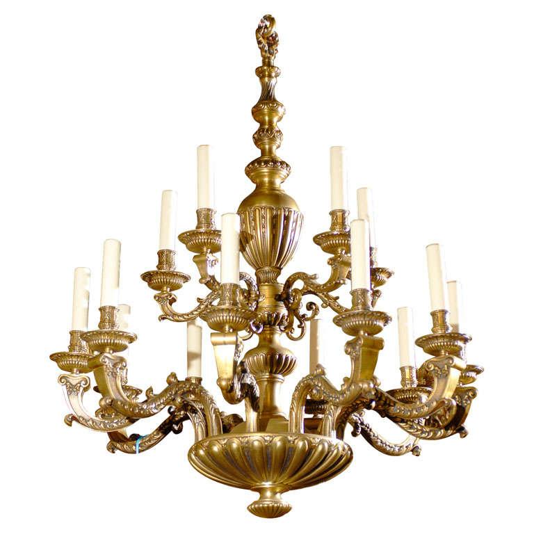 Antique Chandelier. Regence style chandelier For Sale