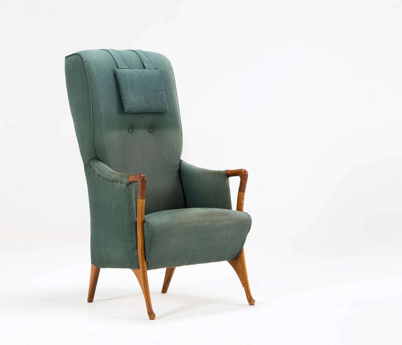 Exceptional Italian High Back Lounge Chair For Sale At 1stdibs