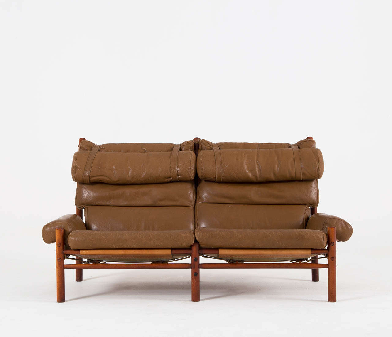 cognac buffalo leather 39 inka 39 sofa by arne norell at 1stdibs. Black Bedroom Furniture Sets. Home Design Ideas