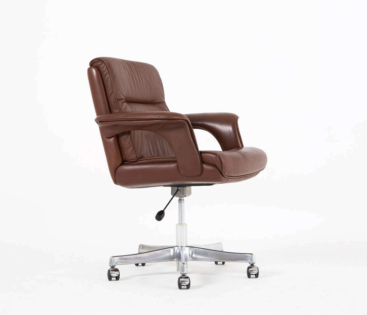 Executive Conference Desk Office Chair In Brown Leather For Sale At 1stdibs