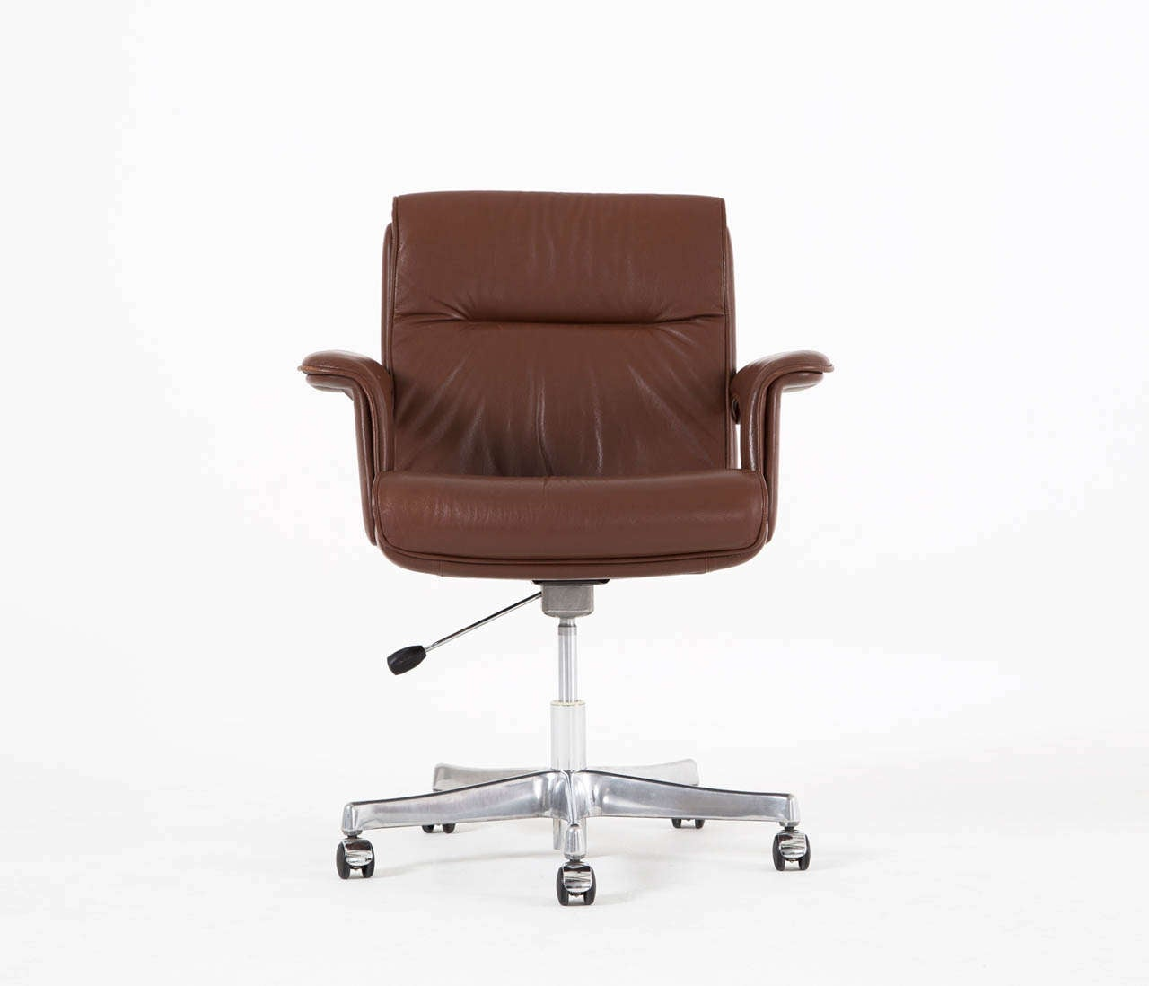Brown conference chairs - Executive Conference Desk Office Chair In Brown Leather 3