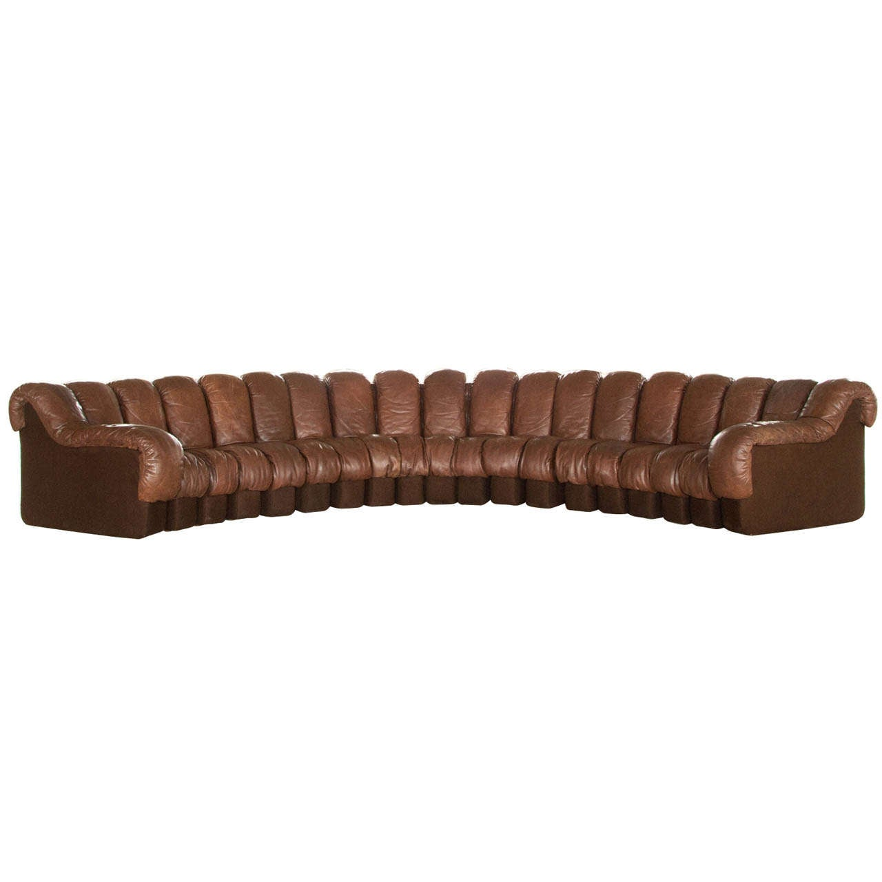 De Sede Ds 600 Non Stop Sectional Sofa 19pcs Cognac