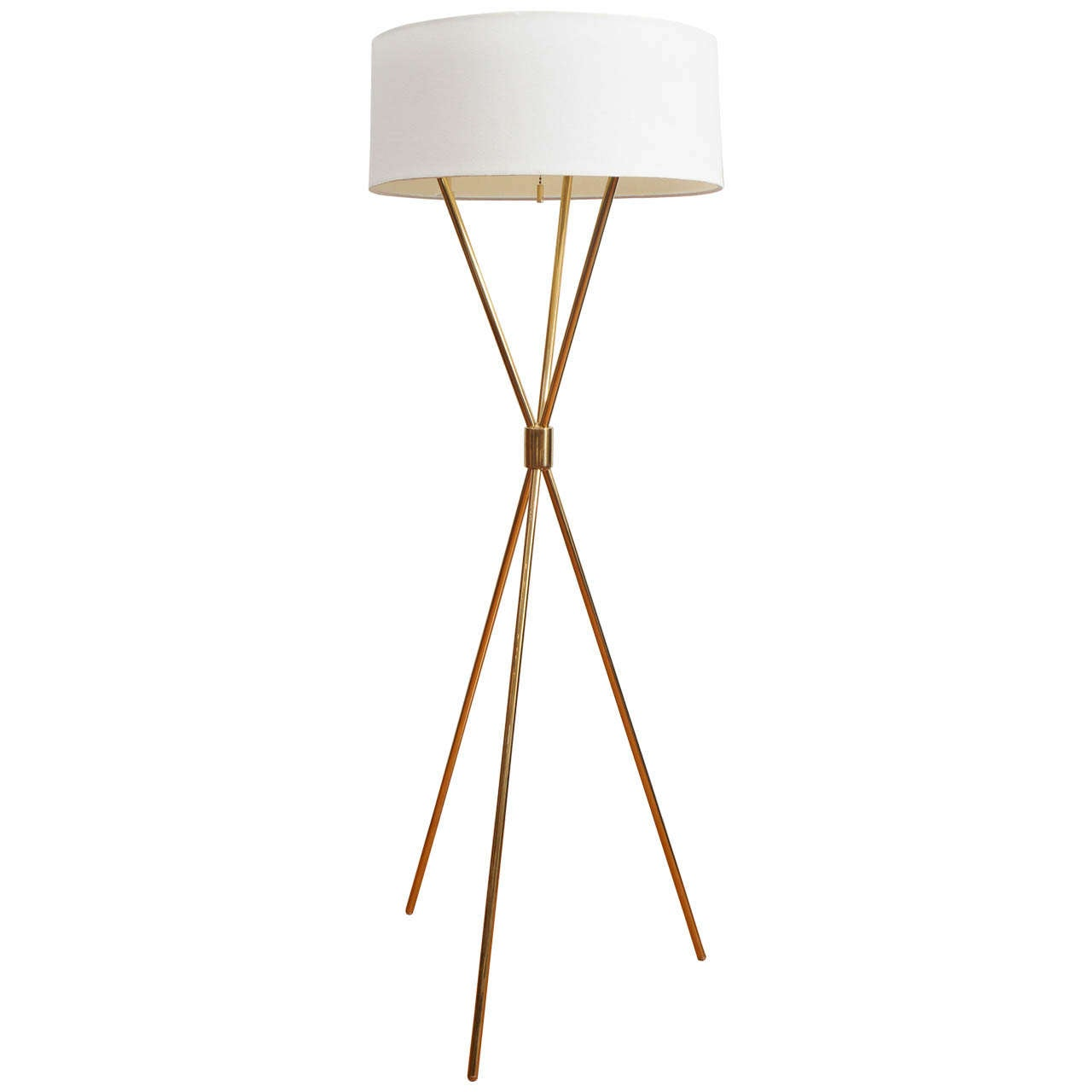 Hinson Brass Tripod Floor Lamp At 1stdibs