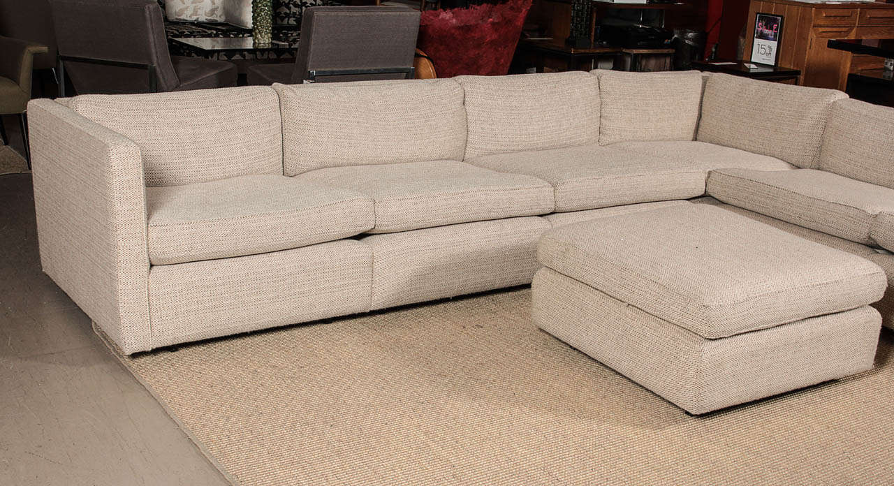 Charles Pfister Sectional Sofa And Ottoman In Maharam Fabric Knoll 3 : knoll sectional - Sectionals, Sofas & Couches