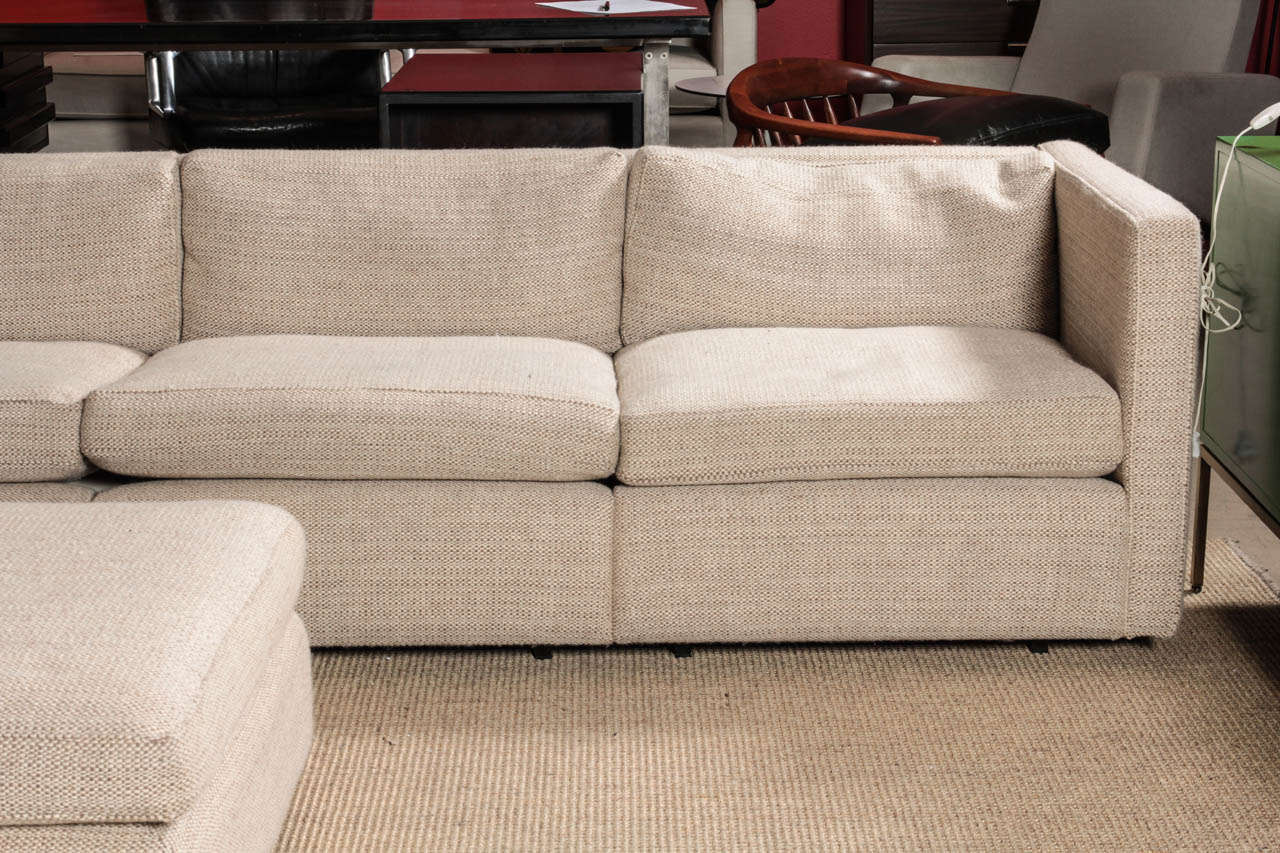 Charles Pfister Sectional Sofa And Ottoman In Maharam