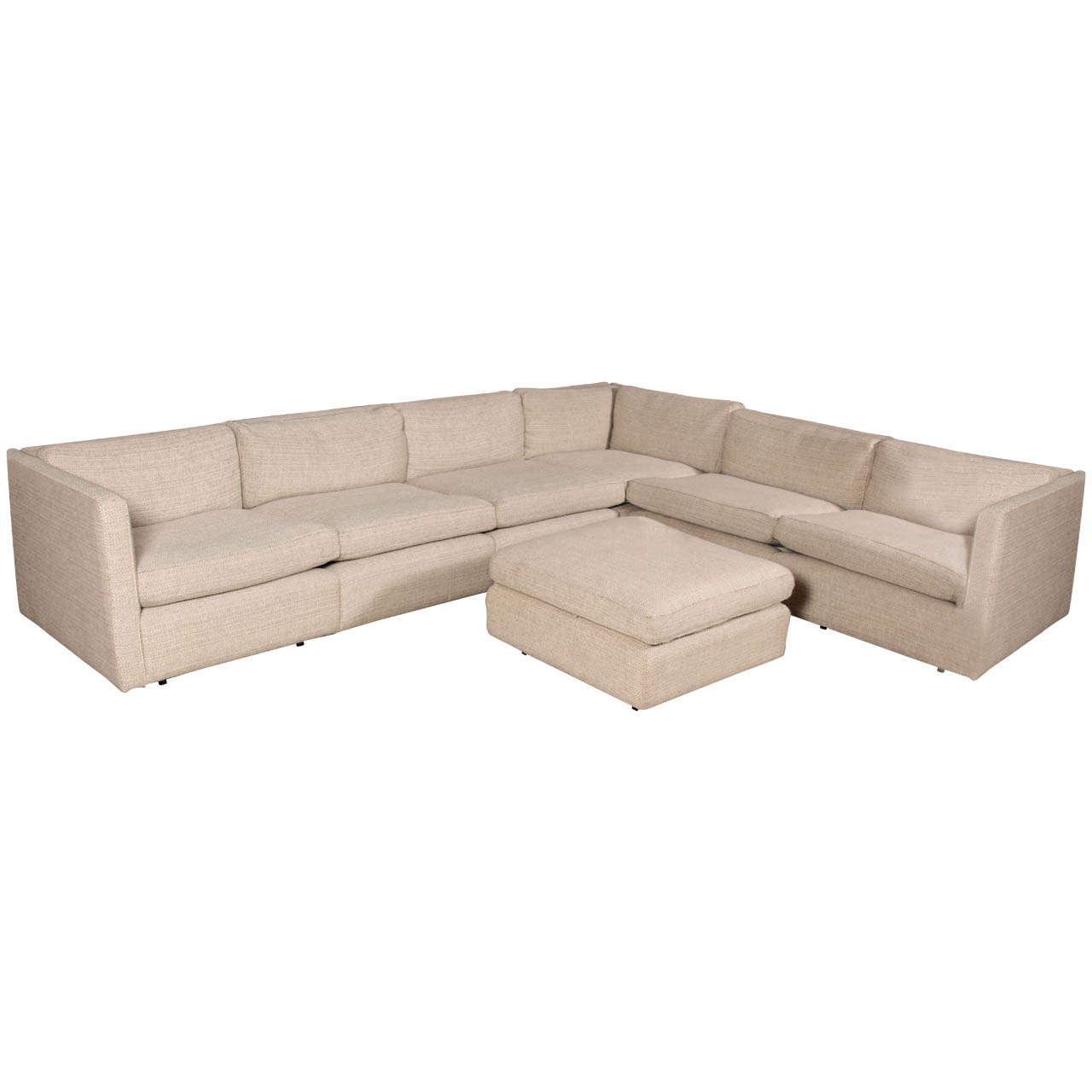 Charles Pfister Sectional Sofa And Ottoman In Maharam Fabric Knoll 1  sc 1 st  1stDibs : knoll sectional - Sectionals, Sofas & Couches